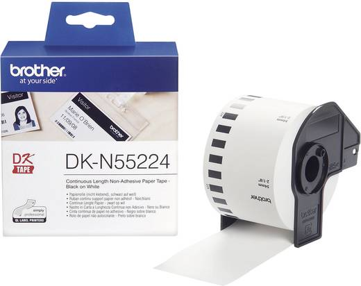 Brother Etiketten (Rolle) 54 mm x 30.48 m Papier Weiß 1 Rolle(n) Nicht klebend DKN55224 DK-N55224 Universal-Etiketten