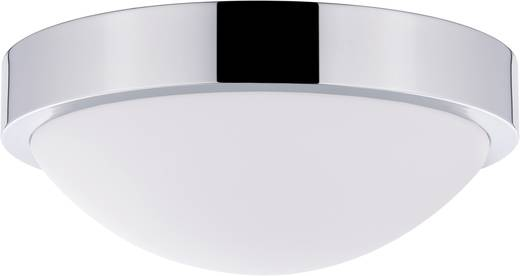 Bad-Deckenleuchte Halogen, Energiesparlampe E27 60 W Paulmann Falima 70301 Chrom, Opal
