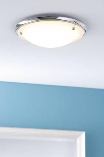 Bad-Deckenleuchte Halogen, Energiesparlampe E27 60 W Paulmann Arctus 70345 Chrom, Opak