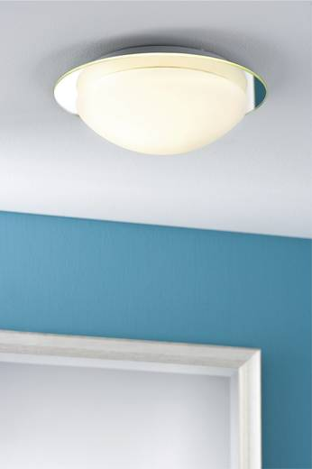Bad-Wandleuchte Halogen, Energiesparlampe E27 60 W Paulmann Mirfak 70348 Weiß, Opal