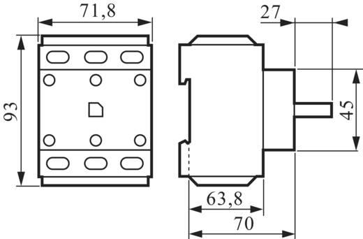 Schalterblock 80 A Grau, Schwarz BACO BA0172400 1 St.