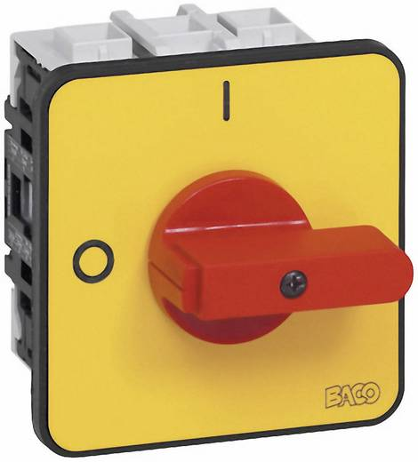 Lasttrennschalter 80 A 1 x 90 ° Gelb, Rot BACO BA172402 1 St.