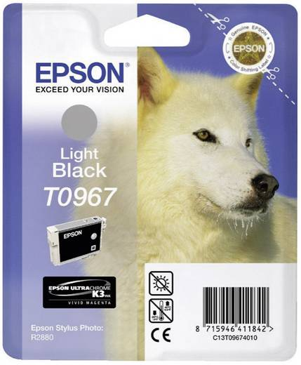 Epson Tinte T0967 Original Light Schwarz C13T09674010