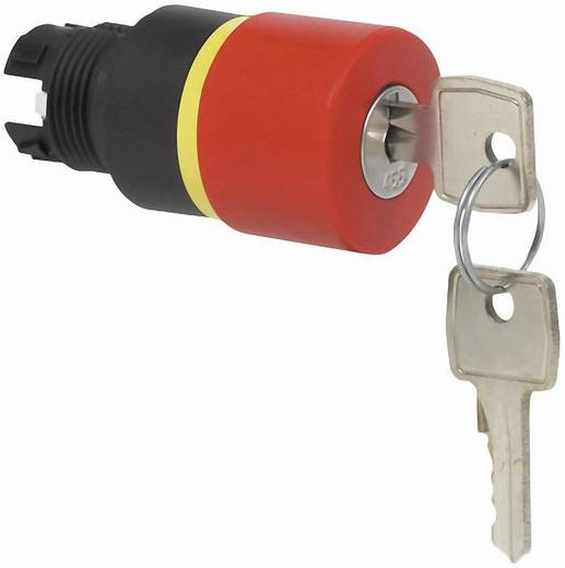 Pilztaster Frontring Kunststoff, Schwarz, mit Statusanzeige Rot Schlüsselentriegelung BACO L22GQ01 1 St.