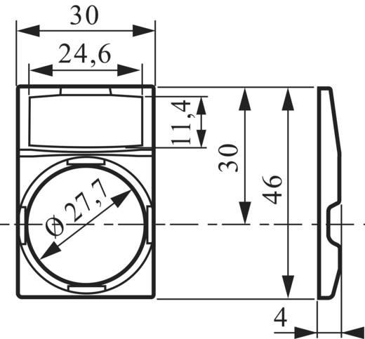 Schildträger quadratisch Schwarz BACO BALWP4 1 St.