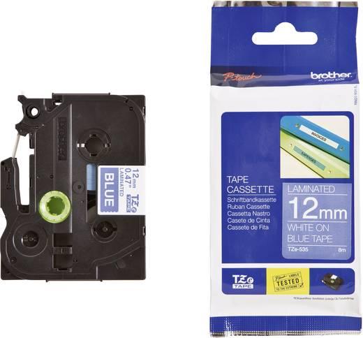 Schriftband Brother TZe TZe-535 Bandfarbe: Blau Schriftfarbe:Weiß 12 mm 8 m
