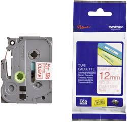 Páska do štítkovače Brother TZe-132, 5834067, 12 mm, TZe, TZ, 8 m, červená/transp.