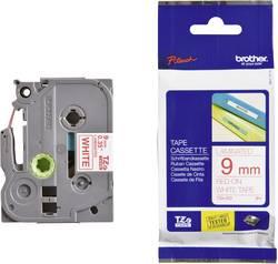 Páska do štítkovače Brother TZe-222, 5834064, 9 mm, TZe, TZ, 8 m, červená/bílá