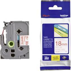 Páska do štítkovače Brother TZe-242, 5834083, 18 mm, TZe, TZ, 8 m, červená/bílá