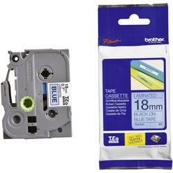 Páska do štítkovača Brother TZe-541, 5834075, 18 mm, TZe, TZ, 8 m, čierna / modrá