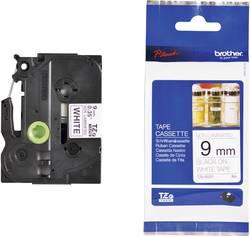 Páska do štítkovače Brother TZe-N221, 5834337, 9 mm, TZe, TZ, 8 m, černá/bílá