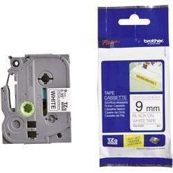 Páska extra lepiaca Brother TZe-S221, 9 mm, 8 m, čierna, biela