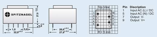 AC/DC-Printnetzteil Spitznagel SPN 00212 12 V/DC 0.2 A 2.4 W