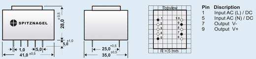 AC/DC-Printnetzteil Spitznagel SPN 00512 12 V/DC 0.45 A 5 W