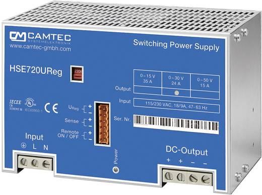 Labornetzgerät, einstellbar Camtec HSEUreg07201.50T 0 - 50 V/DC 15 A 720 W Anzahl Ausgänge 1