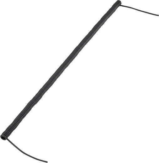 Spiralkabel 170 mm / 500 mm 2 x 0.12 mm² Schwarz 630972 1 St.