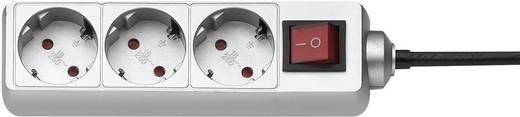 Steckdosenleiste mit Schalter 3fach Titan Schutzkontakt GAO 0351