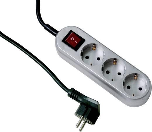 GAO 0292 Steckdosenleiste mit Schalter 3fach Titan Schutzkontakt