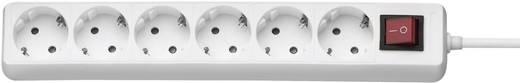 Steckdosenleiste mit Schalter 6fach Weiß Schutzkontakt GAO DY-06K