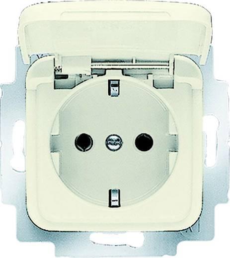 Busch-Jaeger Einsatz Schutzkontakt-Steckdose mit Klappdeckel Duro 2000 SI, Duro 2000 SI Linear Creme-Weiß 20 EUK-212