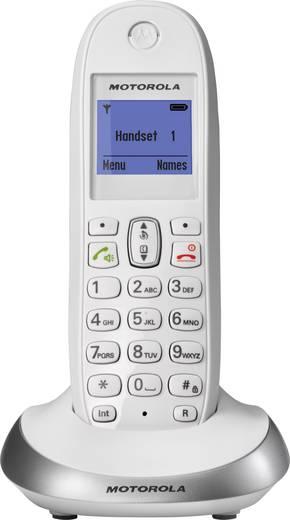 Schnurloses Telefon analog Motorola C2001W Freisprechen Weiß, Silber