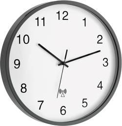 Analogové DCF nástěnné hodiny 60.3511.10, Ø 302 x 40 mm, černá/bílá
