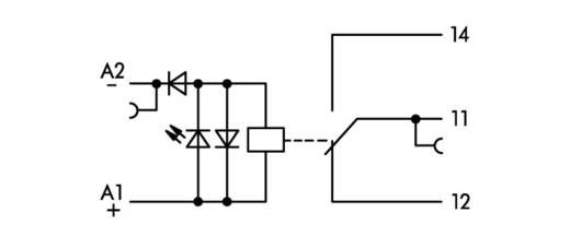 Relaisklemme 1 St. WAGO 859-318 Nennspannung: 220 V/DC Schaltstrom (max.): 50 mA 1 Wechsler