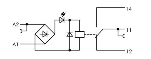Relaisklemme 1 St. WAGO 859-355 Nennspannung: 48 V/DC, 48 V/AC Schaltstrom (max.): 5 A 1 Wechsler