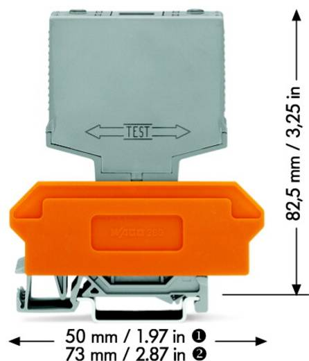 Diodenbaustein 1 St. WAGO 286-809 Passend für Serie: Wago Serie 280 Passend für Modell: Wago 280-629, Wago 280-639, Wa