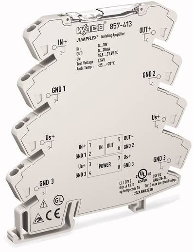 JUMPFLEX®-Messumformer; Trennverstärker; fest eingestellt für Spannungssignale WAGO 857-413 1 St.