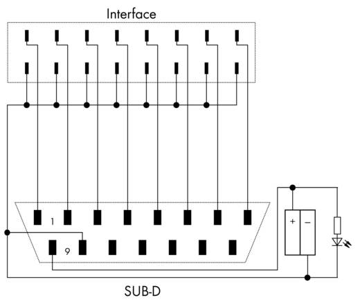 JUMPFLEX®-Adapter; mit Sub-Min-D-Stiftleiste; Eingang WAGO 857-986 1 St.