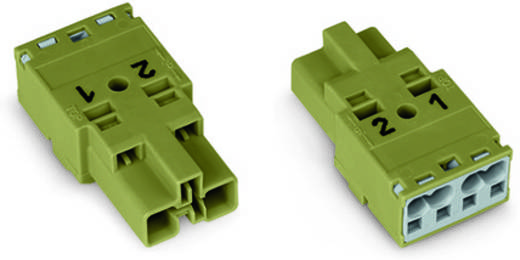 Netz-Steckverbinder Serie (Netzsteckverbinder) WINSTA MIDI Stecker, gerade Gesamtpolzahl: 2 25 A Hellgrün WAGO 770-272
