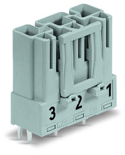 Netz-Steckverbinder Serie (Netzsteckverbinder) WINSTA MIDI Stecker, Einbau vertikal Gesamtpolzahl: 3 25 A Grau WAGO 100 St.