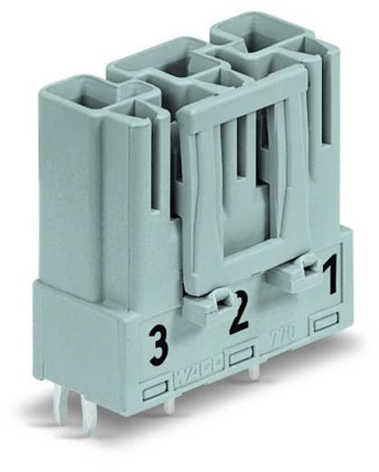 Netz-Steckverbinder Serie (Netzsteckverbinder) WINSTA MIDI Stecker, Einbau vertikal Gesamtpolzahl: 3 25 A Pink WAGO 100 St.