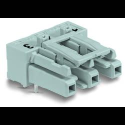 Sieťový konektor WAGO zásuvka, vstavateľná horizontálna, počet kontaktov: 3, 25 A, 250 V, čierna, 100 ks