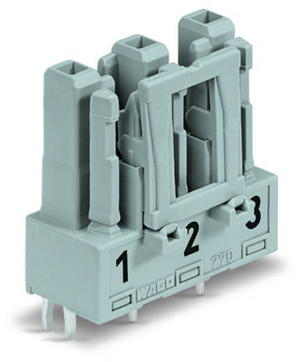 Netz-Steckverbinder Serie (Netzsteckverbinder) WINSTA MIDI Buchse, Einbau vertikal Gesamtpolzahl: 3 25 A Schwarz WAGO 7