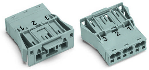 Netz-Steckverbinder Serie (Netzsteckverbinder) WINSTA MIDI Stecker, gerade Gesamtpolzahl: 3 25 A Grau WAGO 100 St.