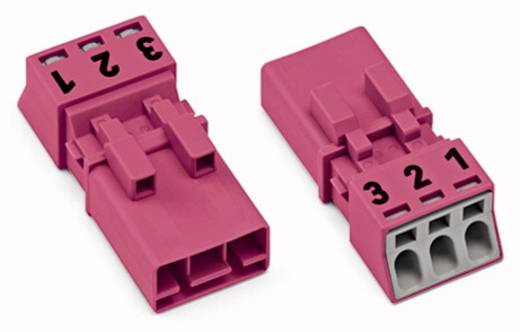 Netz-Steckverbinder WINSTA MINI Serie (Netzsteckverbinder) WINSTA MINI Stecker, gerade Gesamtpolzahl: 3 16 A Pink WAGO