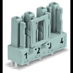 Sieťový konektor WAGO zásuvka, vstavateľná vertikálna, počet kontaktov: 4, 25 A, 400 V, čierna, 50 ks