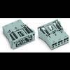 Connecteur d'alimentation Femelle droite WAGO 770-763 25 A Nbr total de pôles: 3 vert clair Série WINSTA MIDI 100 pc(s)