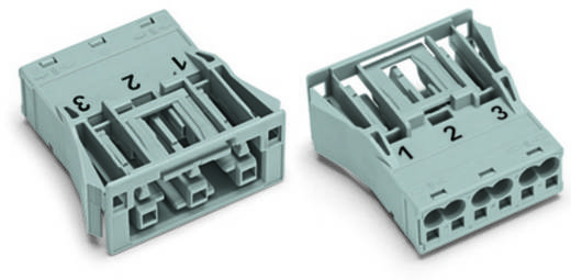Netz-Steckverbinder Serie (Netzsteckverbinder) WINSTA MIDI Buchse, gerade Gesamtpolzahl: 3 25 A Rot WAGO 100 St.