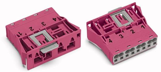 Netz-Steckverbinder Serie (Netzsteckverbinder) WINSTA MIDI Stecker, gerade Gesamtpolzahl: 4 25 A Pink WAGO 100 St.
