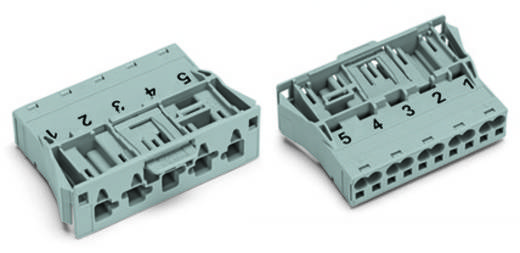 Netz-Steckverbinder Serie (Netzsteckverbinder) WINSTA MIDI Stecker, gerade Gesamtpolzahl: 5 25 A Grau WAGO 100 St.
