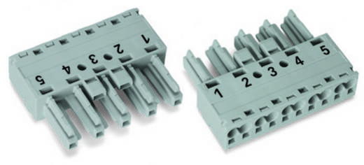 Netz-Steckverbinder Serie (Netzsteckverbinder) WINSTA MIDI Buchse, gerade Gesamtpolzahl: 5 25 A Rot WAGO 50 St.