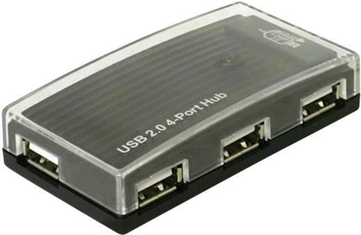 4 Port USB 2.0-Hub Delock Schwarz