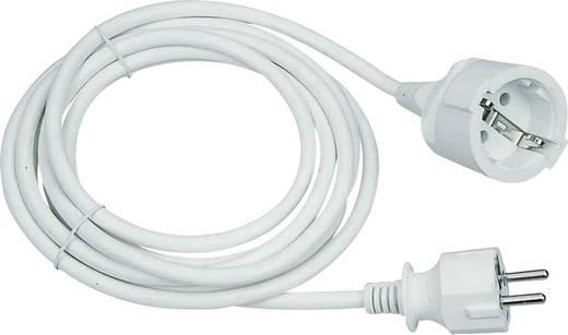Strom Verlängerungskabel [ Schutzkontakt-Stecker - Schutzkontakt-Kupplung] 16 A Weiß 3 m GAO 143201018