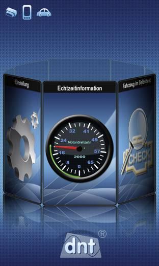 OBD-Scanner mit Bluetooth® dnt 66713 Geeignet für alle Fahrzeuge mit OBD II Buchse