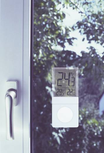 Fenster-Thermometer Vista Silber