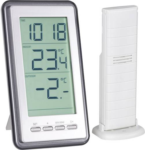 WS-9160-IT Funk-Thermometer Silber