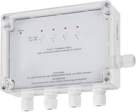 HomeMatic Funk-Schalter HM-LC-Sw4-SM-2 76796A0 4-Kanal Aufputz 3680 W
